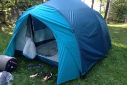 Woods™ Big Cedar Tent Keeps us dry and comfortable #WoodsExplorer