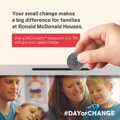#DayOfChange – Ronald McDonald House