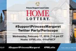 Join us at the #SupportPrincessMargaret Twitter Party and Periscope February 17, 2016 to help support Cancer Research