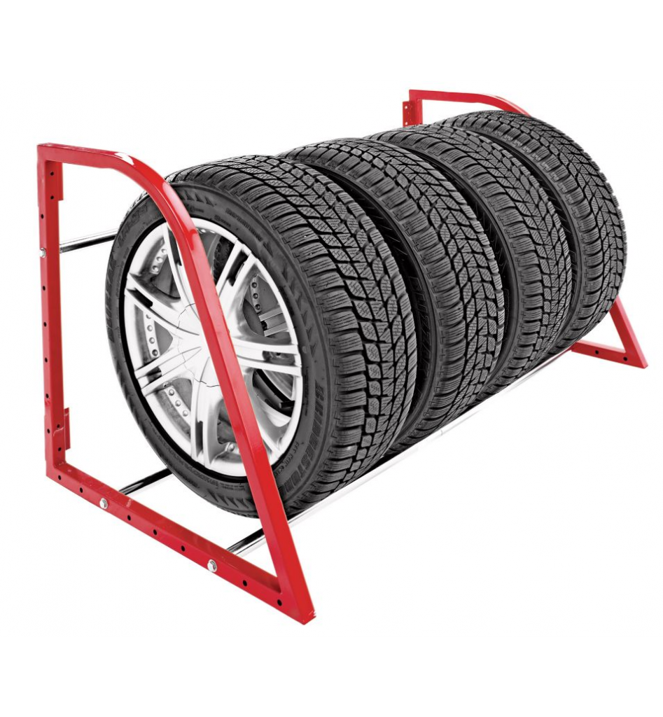 MotoMaster Wall Mount Tire Rack Large