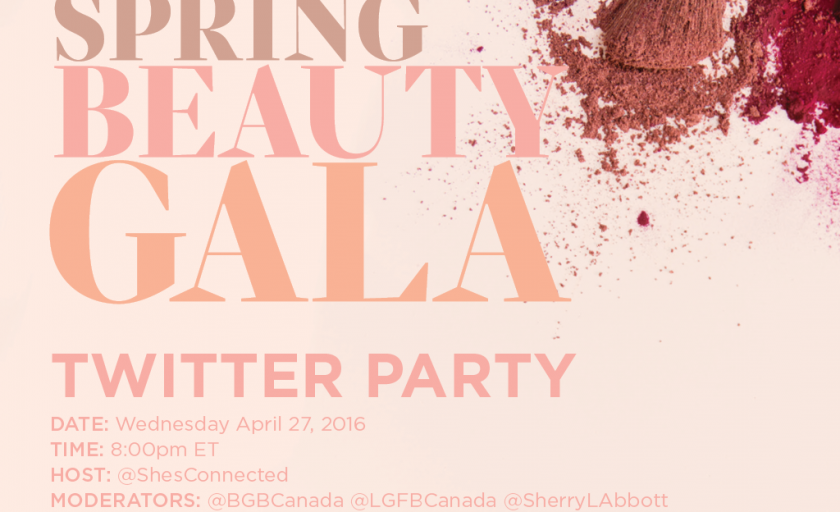 Join us for the #SDMBeautyGala Twitter Party April 27th and Support Women's Cancer Programs