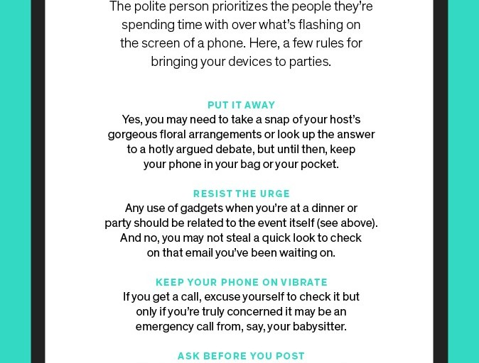 Be a Polite Guest: How to Keep Your Tech in Check During Parties