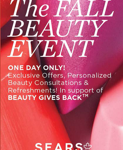 Sears Canada Fall Beauty Event on November 1st to support Beauty Gives Back